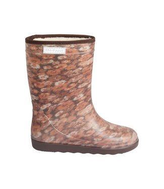 ENFANT Thermo boots 250110 - Leather Brown flowers