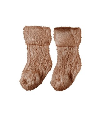 name it NBFOLLA TERRY FLUFFY SOCK 13193391 Cafe Au Lait