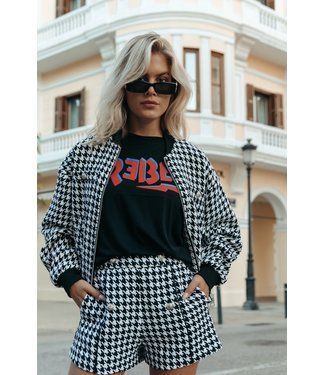 Colourful Rebel Lizzy dogtooth 11043 jacket