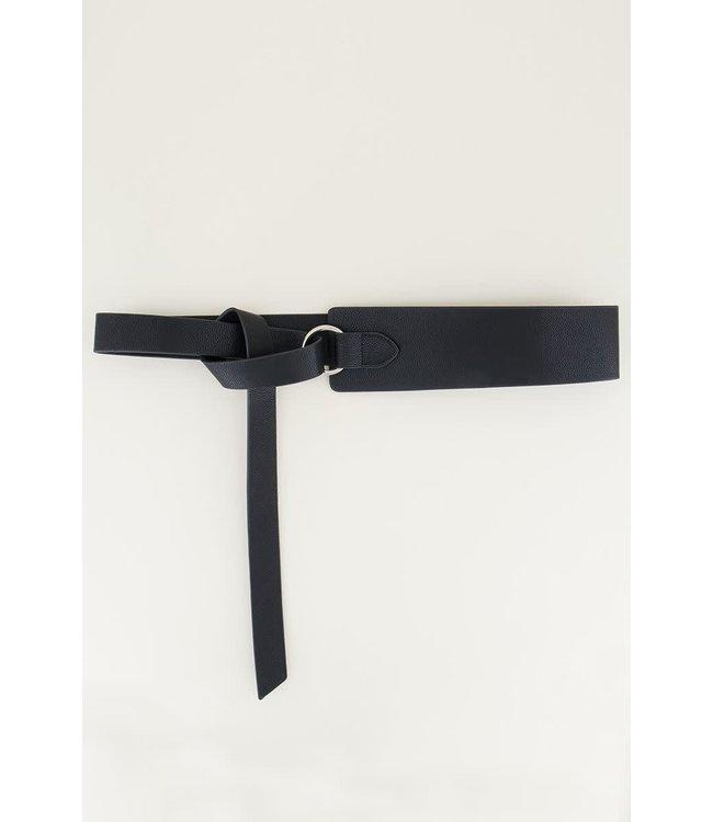 Tailleriem met knoop | zwart