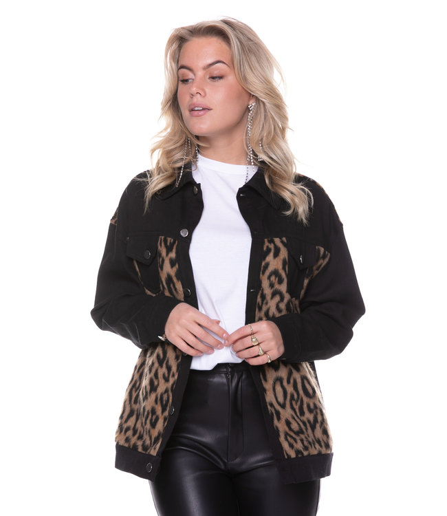 9098 - Milo Leopard Jacket Black