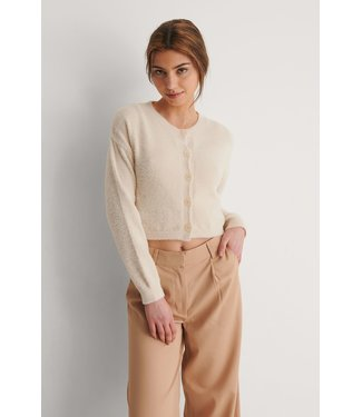 NA-KD Brushed cardigan 1018-007492 offwhite