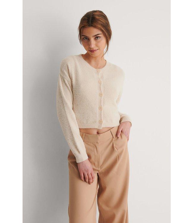 Brushed cardigan 1018-007492 offwhite