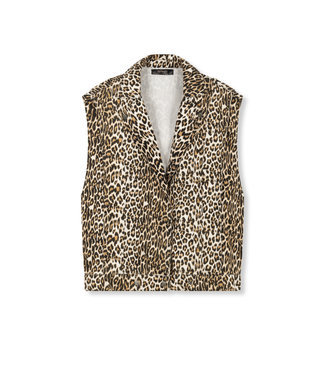 REFINED BOBBY denim leopard jacket
