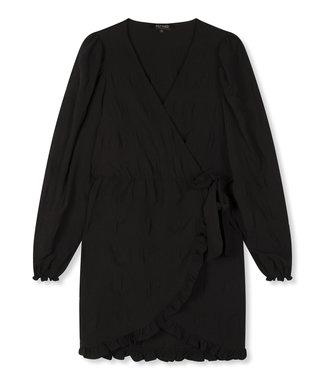 REFINED KAE smock dress - black