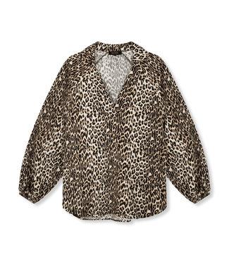 REFINED EMMY crepe blouse - leopard