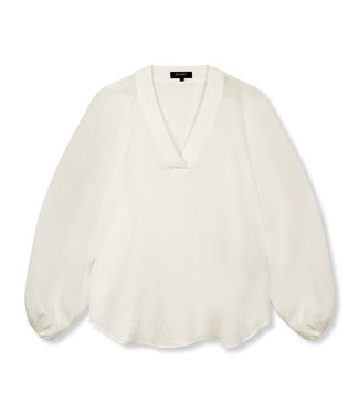 REFINED FAY crinkle blouse - sand