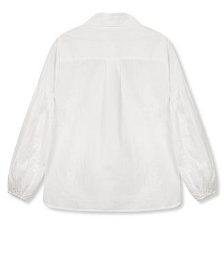 REFINED VICKY poplin blouse - white