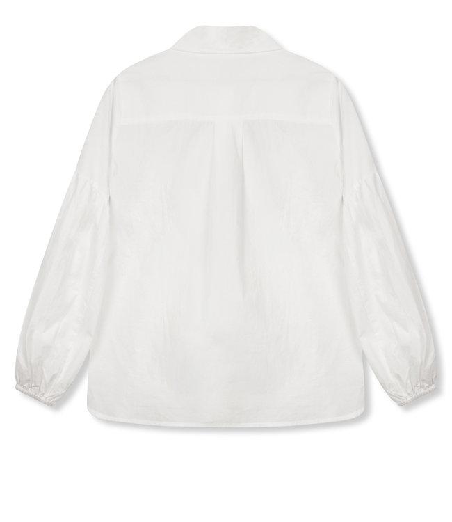 VICKY poplin blouse - white