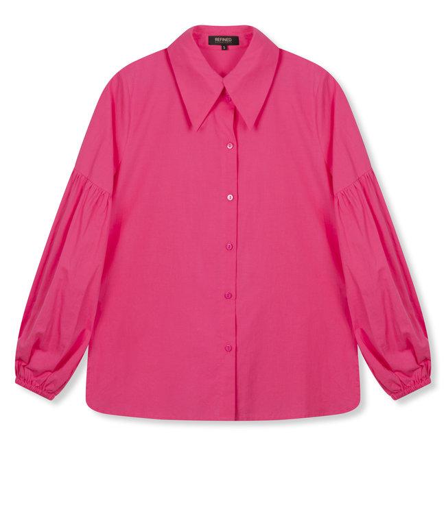 VICKY poplin blouse - pink