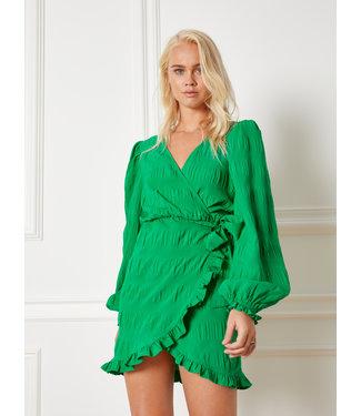 REFINED KAE smock dress - green
