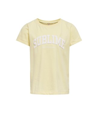 KIDS ONLY KONCANA LIFE OVERSIZE S/S TOP 15242260 Pastel Yellow