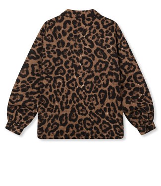 REFINED MONICA quilted leopard jacket
