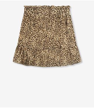 REFINED JAMY crinkle stripe skirt leopard
