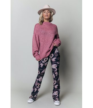 Colourful Rebel Olivia Crew Neck Sweater - old lilac