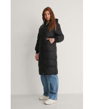 NA-KD Hooded long jacket 1100-004495 black