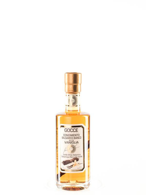 Acetaia GOCCE | with Vanilla Infused White Balsamic Condiment | Vaniglia