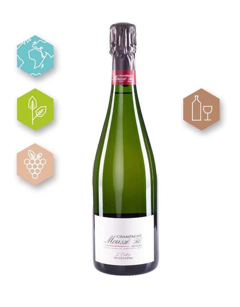 Champagne Moussé Fils | France | Champagne Champagne Moussé Fils | L'Extra Or d'Eugène | Champagne A.O.C. (80% Meunier, 20% Pinot Noir | 1g/l)