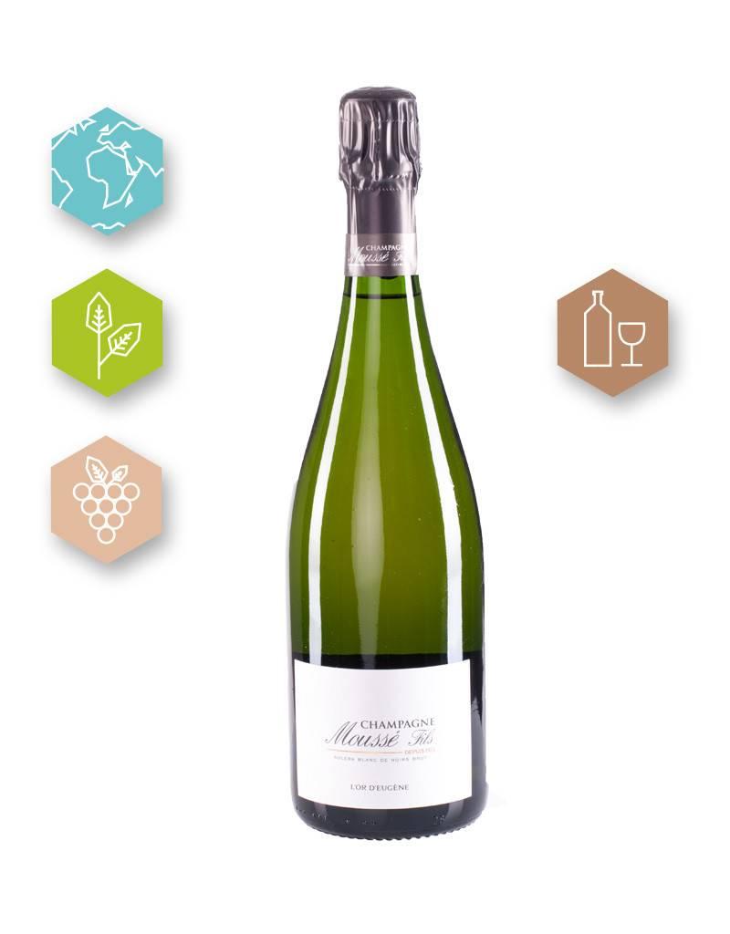 Champagne Moussé Fils | France | Champagne Champagne Moussé Fils | Cuvée  L'Or d'Eugène | Magnum | Champagne A.O.C. | Brut | (80% Pinot Meunier, 20 % Pinot Noir | 8g/l)