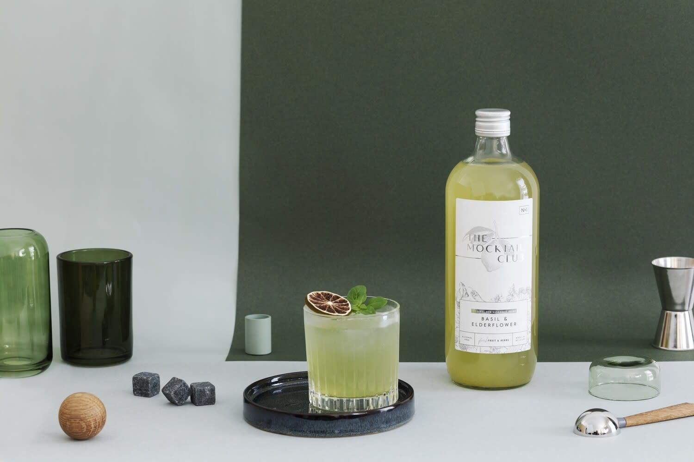The Mocktail Club Basil & Elderflower | Nr 1 | The Mocktail Club | 1000ml |  0º | Flanders | Belgium