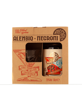 The Nordic Pantry Alembiq Negroni Cocktail | 50 cl | + Glas | Gift box