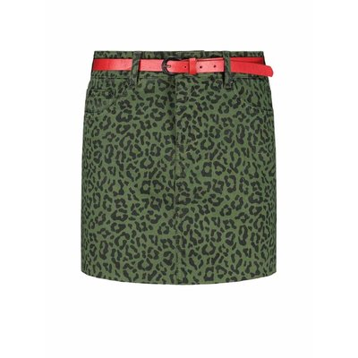 NIKKIE Birdy leopard skirt