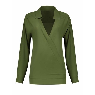 NIKKIE River blouse army green