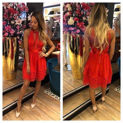 Jaimy Valen dress red