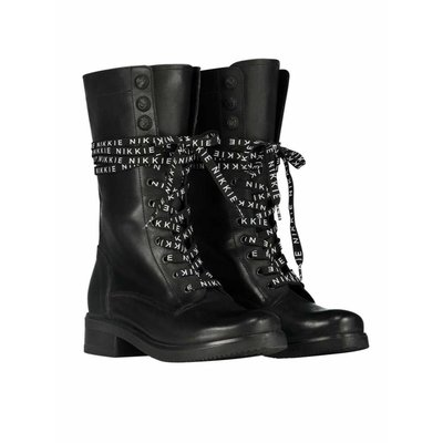 NIKKIE High branded lace boots