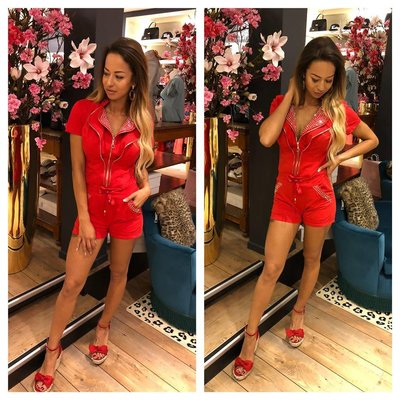 Jaimy Love storie jumpsuit red