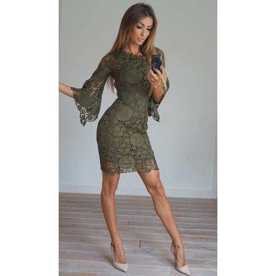 Jaimy Lourdes dress army green