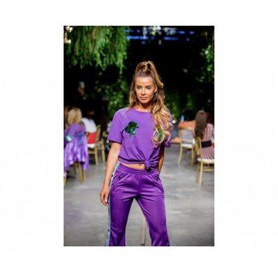Reinders Headlogo tee burgundy amaranth purple