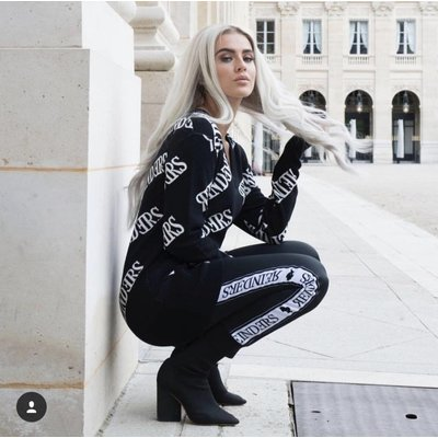 Reinders Reinders sweater all over print black white