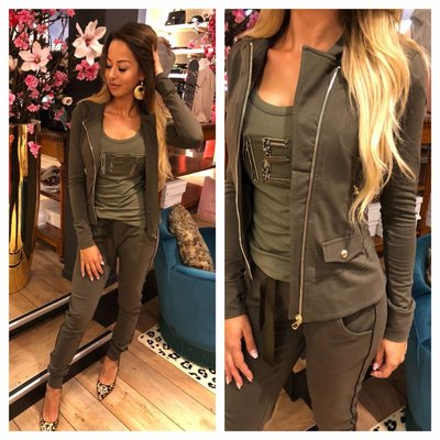 MET Jeans Lovely vest army green