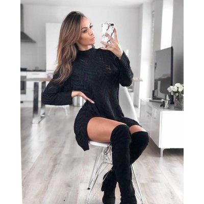 Jaimy Sparkle sweaterdress black