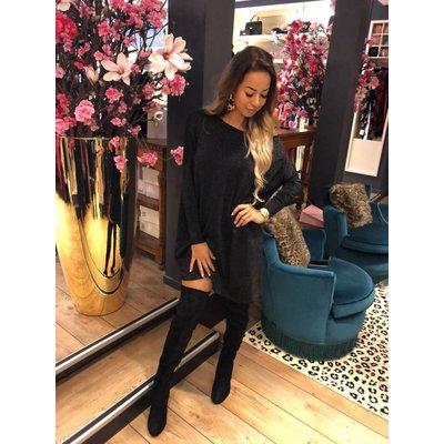 Jaimy Beau sweaterdress sparkle black