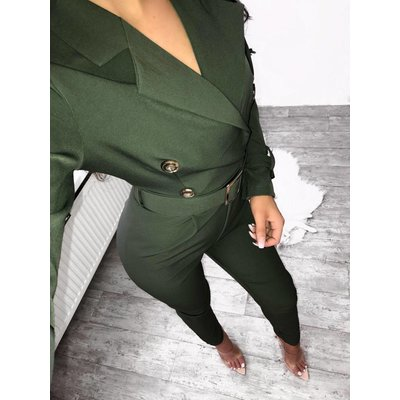 Jaimy Fashion X jumpsuit army green