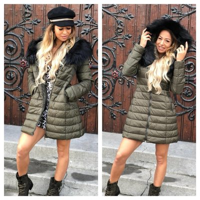 Jaimy Sermin coat army green