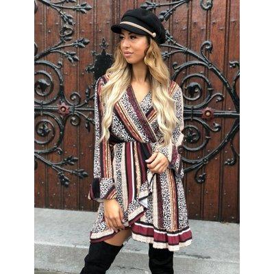Jaimy Alexis ruffle dress bordeaux