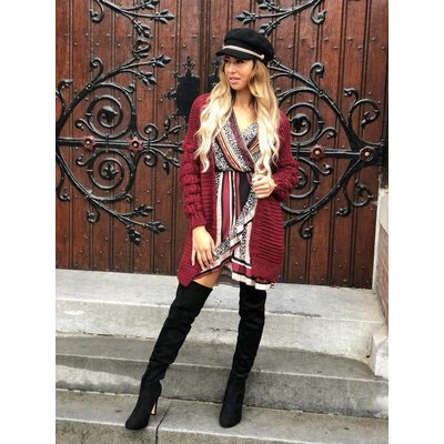 Jaimy Blogger cardigan bordeaux