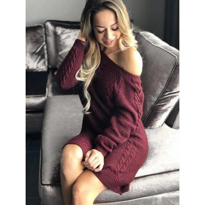 Jaimy Life style sweater dress burgundy