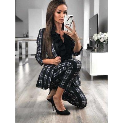 Jaimy Rosa check suit black