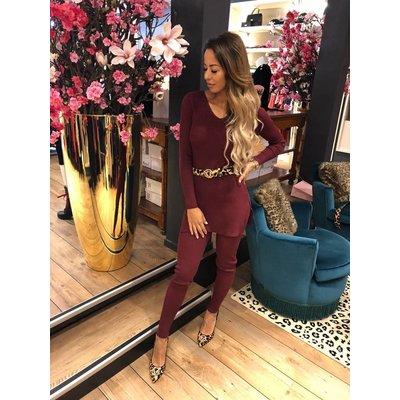 Jaimy Lounge wear 2 piece set bordeaux