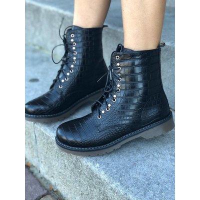 Jaimy Black snake booties