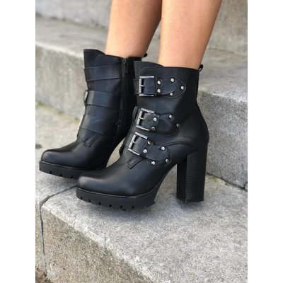 Jaimy Buckle ankle boots