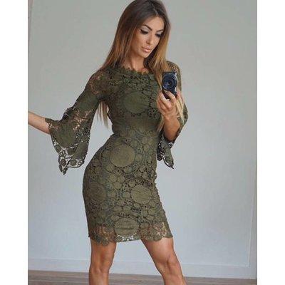 Jaimy La dolce dress army green