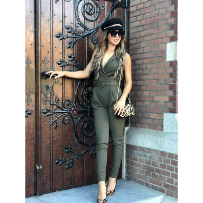Jaimy Fab x jumpsuit army green