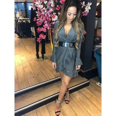 Jaimy Rise & Sparkle dress silver