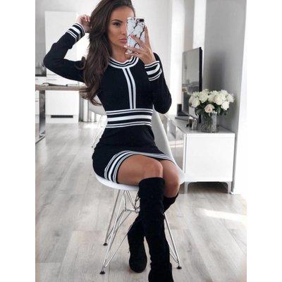 Jaimy Chanel dress black white