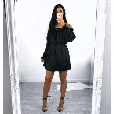 Jaimy Silk chloe dress black